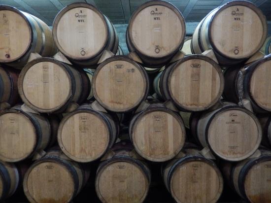 Wall of barrels